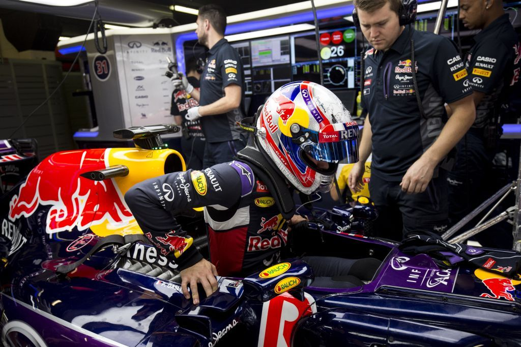 MONTMELO, SPAIN - MAY 13:  Pierre Gasly of France is seen driving for Infiniti Red Bull Racing at Formula 1 Testing at Circuit de Catalunya on May 13, 2015 in Montmelo, Spain.  (Photo by Andrew Hone/Getty Images)